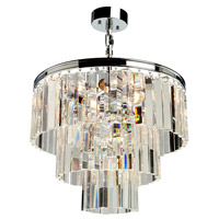 Artcraft AC10409CH El Dorado 6 Light 18 inch Chrome Chandelier Ceiling Light