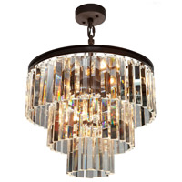 El Dorado 6 Light 18 inch Java Brown Chandelier Ceiling Light
