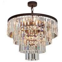 El Dorado 9 Light 24 inch Java Brown Chandelier Ceiling Light