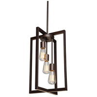 Gastown 3 Light 12 inch Oil Rubbed Bronze Chandelier Ceiling Light