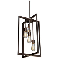 Gastown 4 Light 14 inch Oil Rubbed Bronze Chandelier Ceiling Light