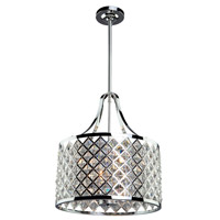 Lattice 3 Light 14 inch Chrome Chandelier Ceiling Light