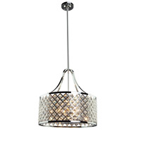 Lattice 5 Light 18 inch Chrome Chandelier Ceiling Light