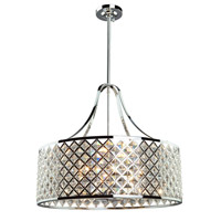 Lattice 6 Light 22 inch Chrome Chandelier Ceiling Light