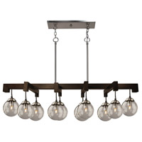 Espresso 10 Light 48 inch Deep Expresso Brown Island Light Ceiling Light