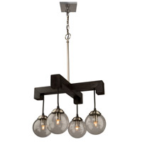 Espresso 4 Light 18 inch Deep Expresso Brown Chandelier Ceiling Light