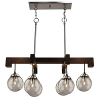Espresso 6 Light 31 inch Deep Expresso Brown Island Light Ceiling Light