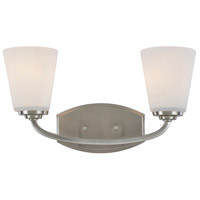 Hudson 2 Light 16 inch Brushed Nickel Wall Bracket Wall Light
