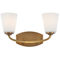 Hudson 2 Light 16 inch Vintage Brass Wall Bracket Wall Light
