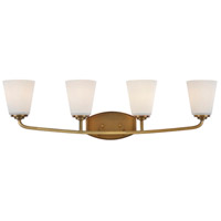 Hudson 4 Light 31 inch Vintage Brass Wall Bracket Wall Light