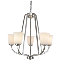 Artcraft AC10465BN Hudson 5 Light 25 inch Brushed Nickel Chandelier Ceiling Light