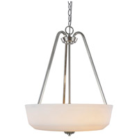 Hudson 3 Light 18 inch Brushed Nickel Pendant Ceiling Light