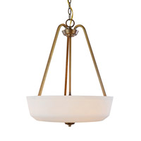 Hudson 3 Light 18 inch Vintage Brass Pendant Ceiling Light