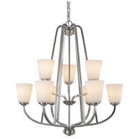 Hudson 9 Light 29 inch Brushed Nickel Chandelier Ceiling Light