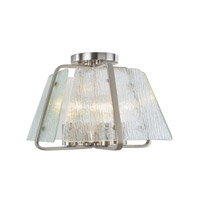La Traviata 4 Light 13 inch Brushed Nickel Flush Mount Ceiling Light