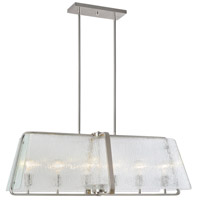 La Traviata 6 Light 36 inch Brushed Nickel Island Light Ceiling Light