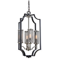 Artcraft AC10493 Oxford 4 Light 14 inch Matte Black and Antique Nickel Chandelier Ceiling Light