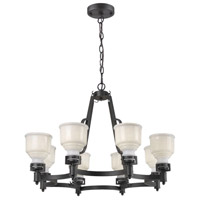 Franklin 8 Light 36 inch Black Chandelier Ceiling Light