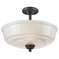 Franklin 3 Light 15 inch Black Flush Mount Ceiling Light