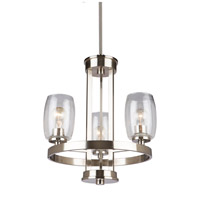 San Antonio 3 Light 19 inch Brushed Nickel Chandelier Ceiling Light