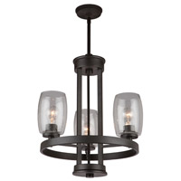 San Antonio 3 Light 19 inch Java Brown Chandelier Ceiling Light