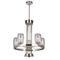 San Antonio 5 Light 26 inch Brushed Nickel Chandelier Ceiling Light