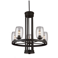 San Antonio 5 Light 26 inch Java Brown Chandelier Ceiling Light