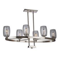 San Antonio 6 Light 18 inch Brushed Nickel Chandelier Ceiling Light