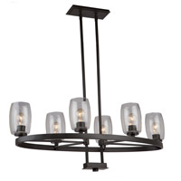 San Antonio 6 Light 18 inch Java Brown Chandelier Ceiling Light