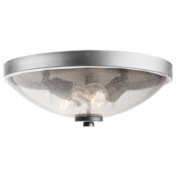 San Antonio 3 Light 15 inch Brushed Nickel Flush Mount Ceiling Light