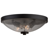 San Antonio 3 Light 15 inch Java Brown Flush Mount Ceiling Light