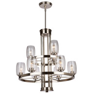 San Antonio 9 Light 31 inch Brushed Nickel Chandelier Ceiling Light