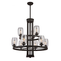 San Antonio 9 Light 31 inch Java Brown Chandelier Ceiling Light