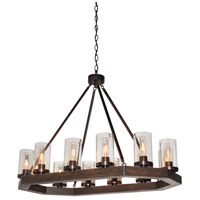 Artcraft AC10542BU Jasper Park 12 Light 38 inch Brunito Bronze Island Light Ceiling Light
