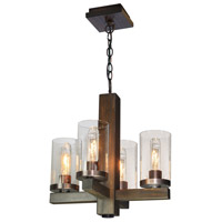 Jasper Park 4 Light 15 inch Brunito Chandelier Ceiling Light