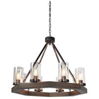 ARTCRAFT Jasper Park 8 Light Chandelier in Brunito AC10548BU