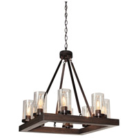 Jasper Park 8 Light 24 inch Brunito Bronze Chandelier Ceiling Light