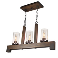 Artcraft AC10563BU Jasper Park 3 Light 27 inch Brunito Bronze Island Light Ceiling Light