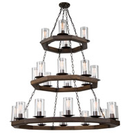 Jasper Park 24 Light 44 inch Brunito Bronze Chandelier Ceiling Light