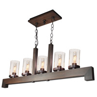 Jasper Park 5 Light 40 inch Brunito Bronze Island Light Ceiling Light