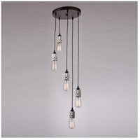 Jersey 5 Light 11 inch Chrome Chandelier Ceiling Light