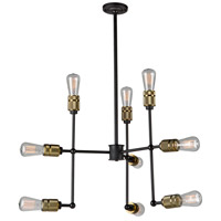 Jersey 9 Light 25 inch Vintage Brass Chandelier Ceiling Light