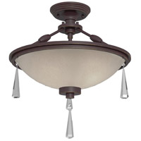 Artcraft Lighting Balmoral 3 Light Semi Flush in Dark Brown AC1063