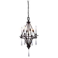 Artcraft Lighting Balmoral 4 Light Chandelette in Dark Brown AC1064