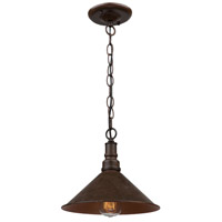 ARTCRAFT Revival 1 Light Pendant in Brown & Rust AC10641RU