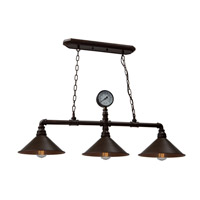 Artcraft AC10643RU Revival 3 Light 11 inch Rust Chandelier Ceiling Light