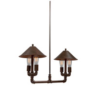 Revival 4 Light 12 inch Authentic Rust Chandelier Ceiling Light