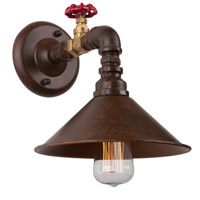 ARTCRAFT Revival 1 Light Wall Sconce in Brown & Rust AC10647RU