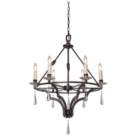 Artcraft Lighting Balmoral 6 Light Chandelier in Dark Brown AC1066