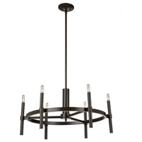 Encore 6 Light 27 inch Oil Rubbed Bronze Chandelier Ceiling Light